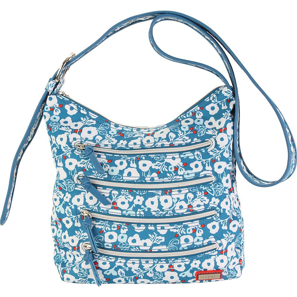 Hadaki Millipede Tote Berry Blossom Teal - Hadaki Fabric Handbags - Handbags, Fabric Handbags