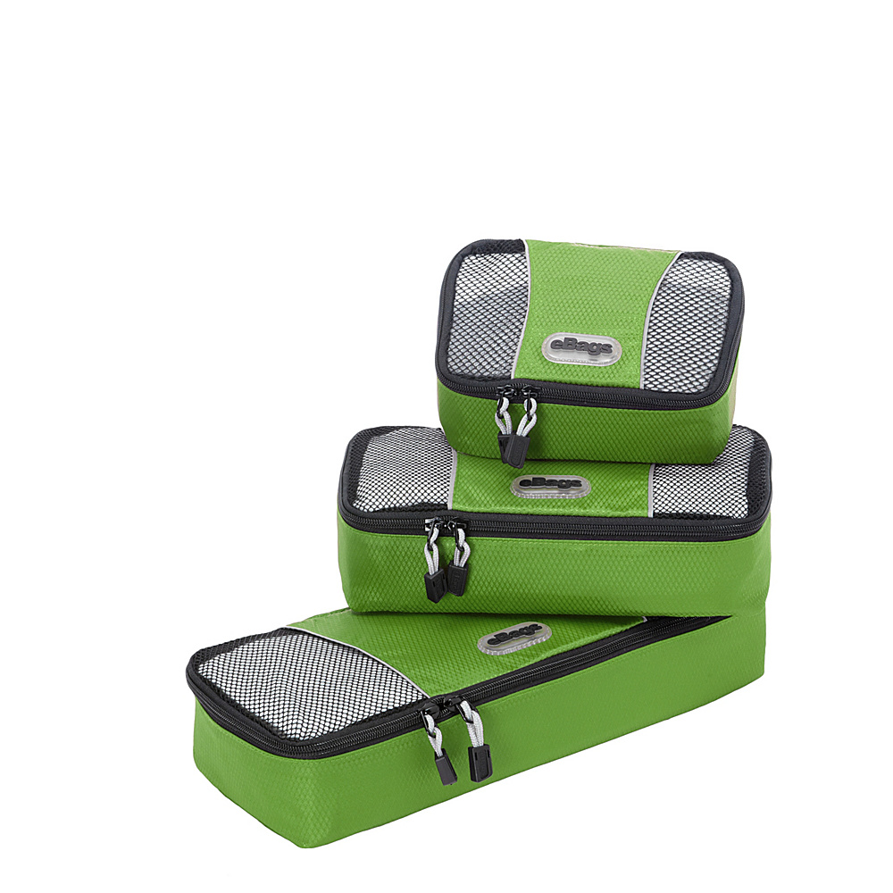 eBags Slim Packing Cubes - Assorted 3 Piece Set - Travel Accessories, Travel Organizers