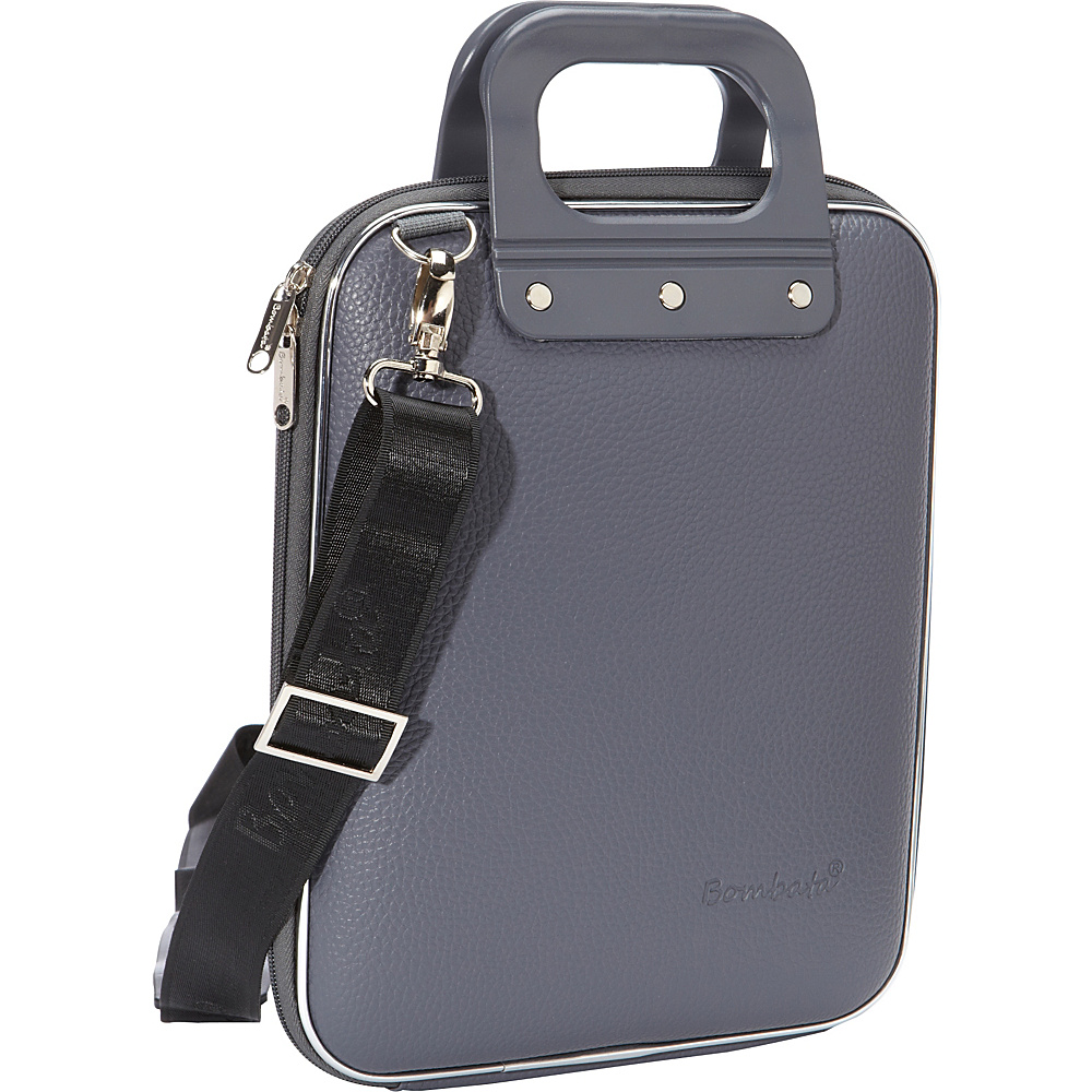 Bombata Micro Tablet Briefcase Charcoal Bombata Non Wheeled Business Cases