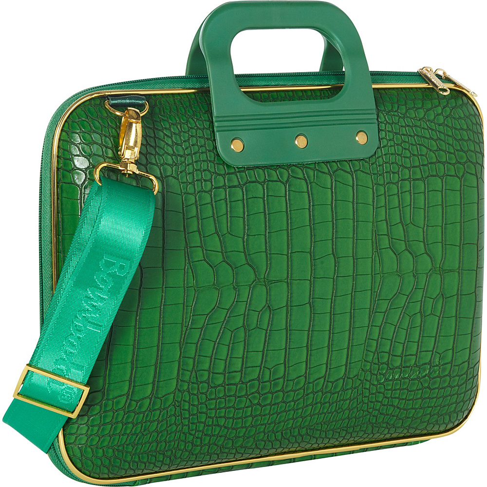 Bombata Micro Tablet Briefcase Emerald Green Bombata Non Wheeled Business Cases