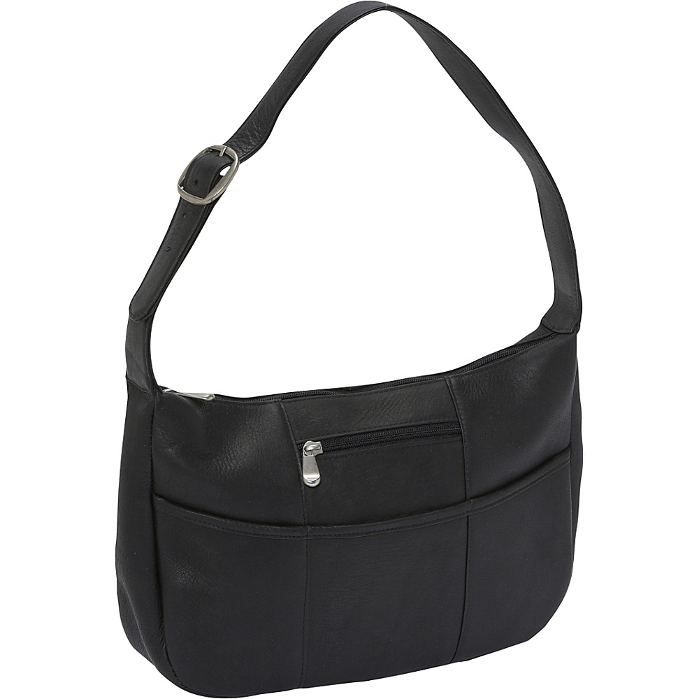 Le Donne Leather Quick Slip Shoulder Bag - Black - Handbags, Leather Handbags