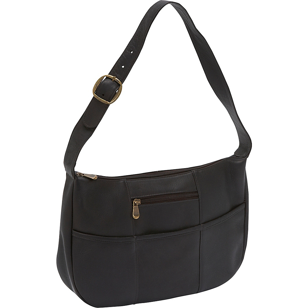 Le Donne Leather Quick Slip Shoulder Bag - Caf - Handbags, Leather Handbags