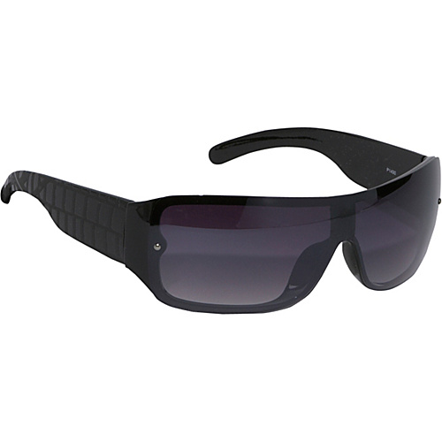 SW Global Sunglasses Wrap Rimless Sunglasses - Black