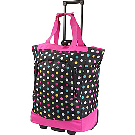 Rolling Tote Bag Polka Dot