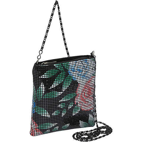 Magid Floral Metal Mesh Small Crossbody Bag