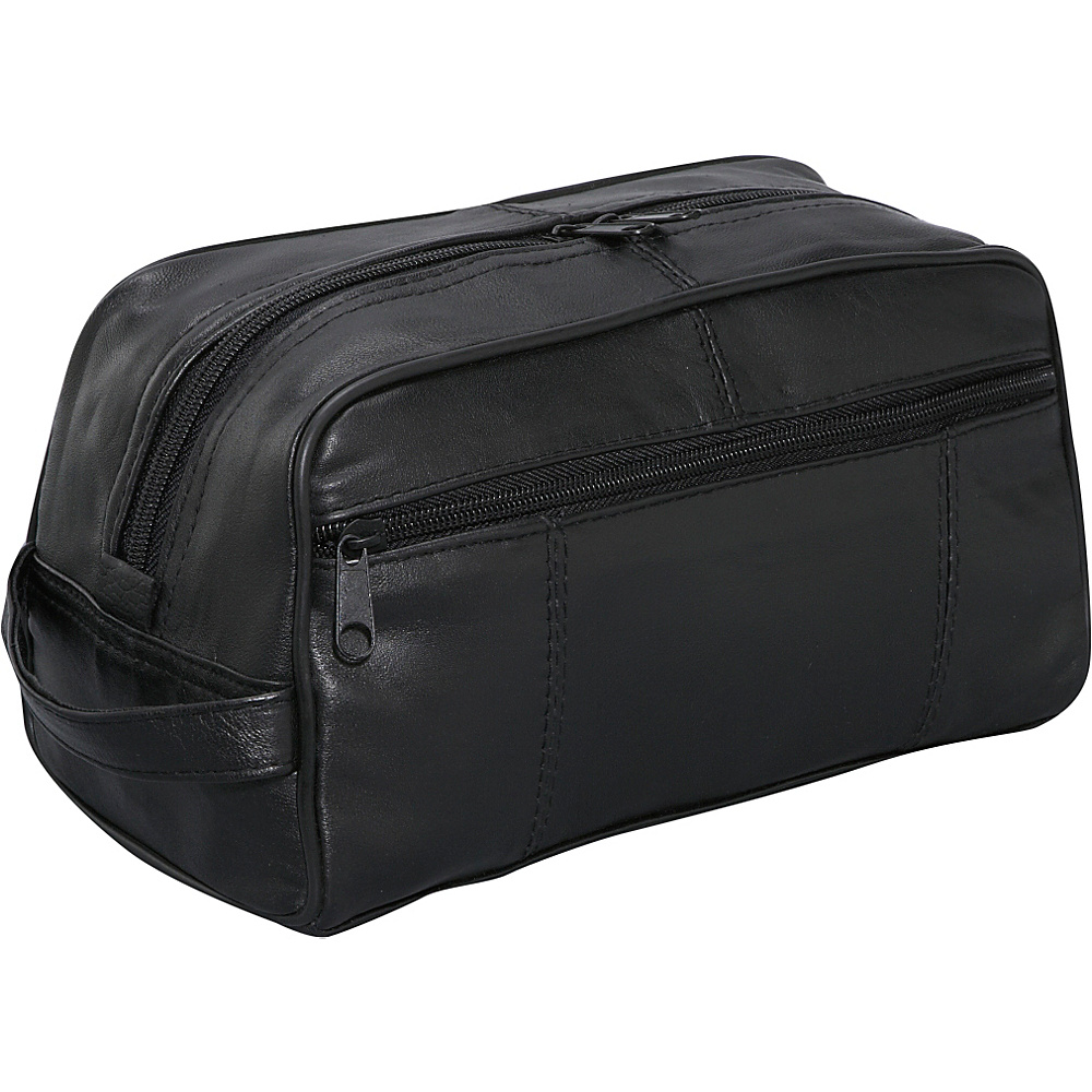 Bellino Leather Toiletry Kit - Black - Travel Accessories, Toiletry Kits