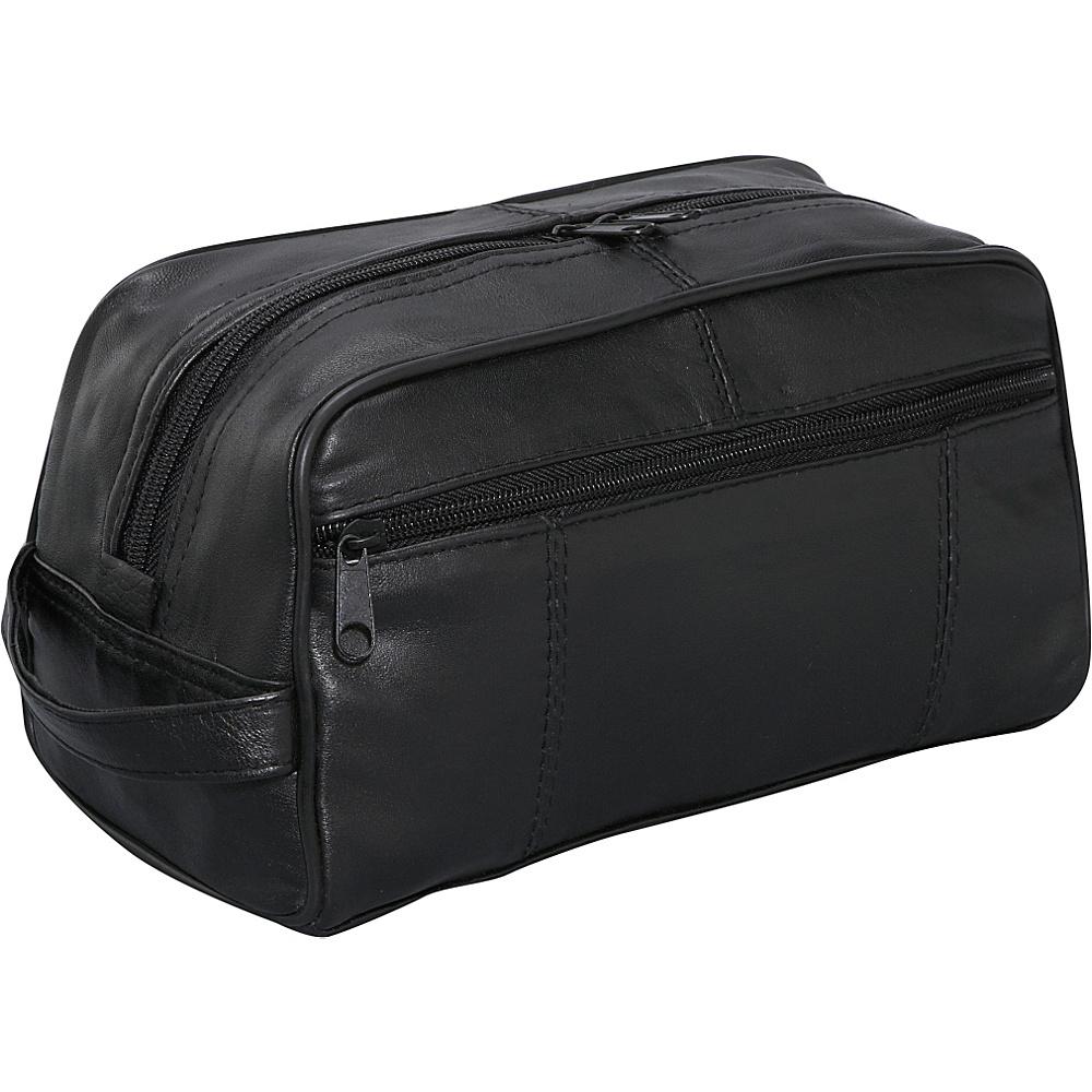 Bellino Leather Toiletry Kit - Black - Travel Accessories, Toiletry Kits