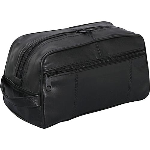 Bellino Leather Toiletry Kit - Black