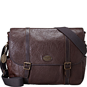 Estate Leather Laptop Messenger Dark Brown