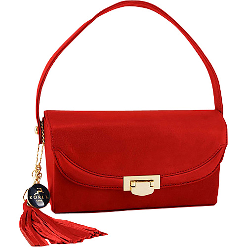 Koret Handbags Half Flap Classic - Red