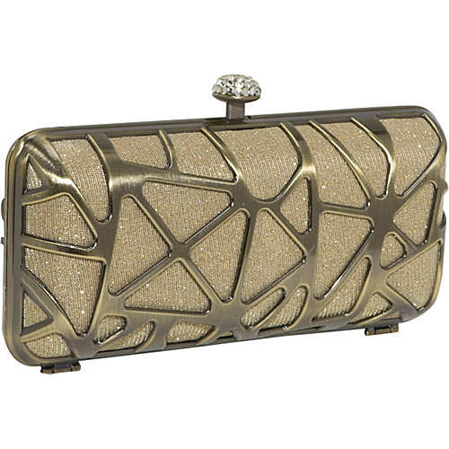 J. Furmani HardCase Shinny Clutch Metallic Gold - J. Furmani Evening Bags