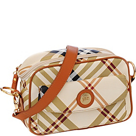 E-GO Essential Camera Bag Tan/Cream Plaid
