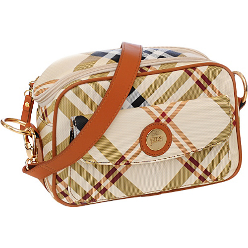 Jill-E E-GO Essential Camera Bag - Tan/Cream Plaid