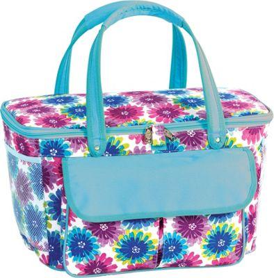 Picnic Plus Avanti Picnic Cooler Blue Blossom - Picnic Plus Outdoor Coolers