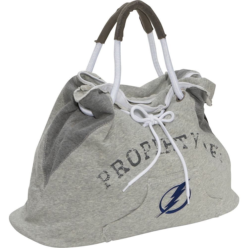 Littlearth NHL Hoodie Tote Grey/Tampa Bay Lightning Tampa Bay Lightning - Littlearth Fabric Handbags - Handbags, Fabric Handbags