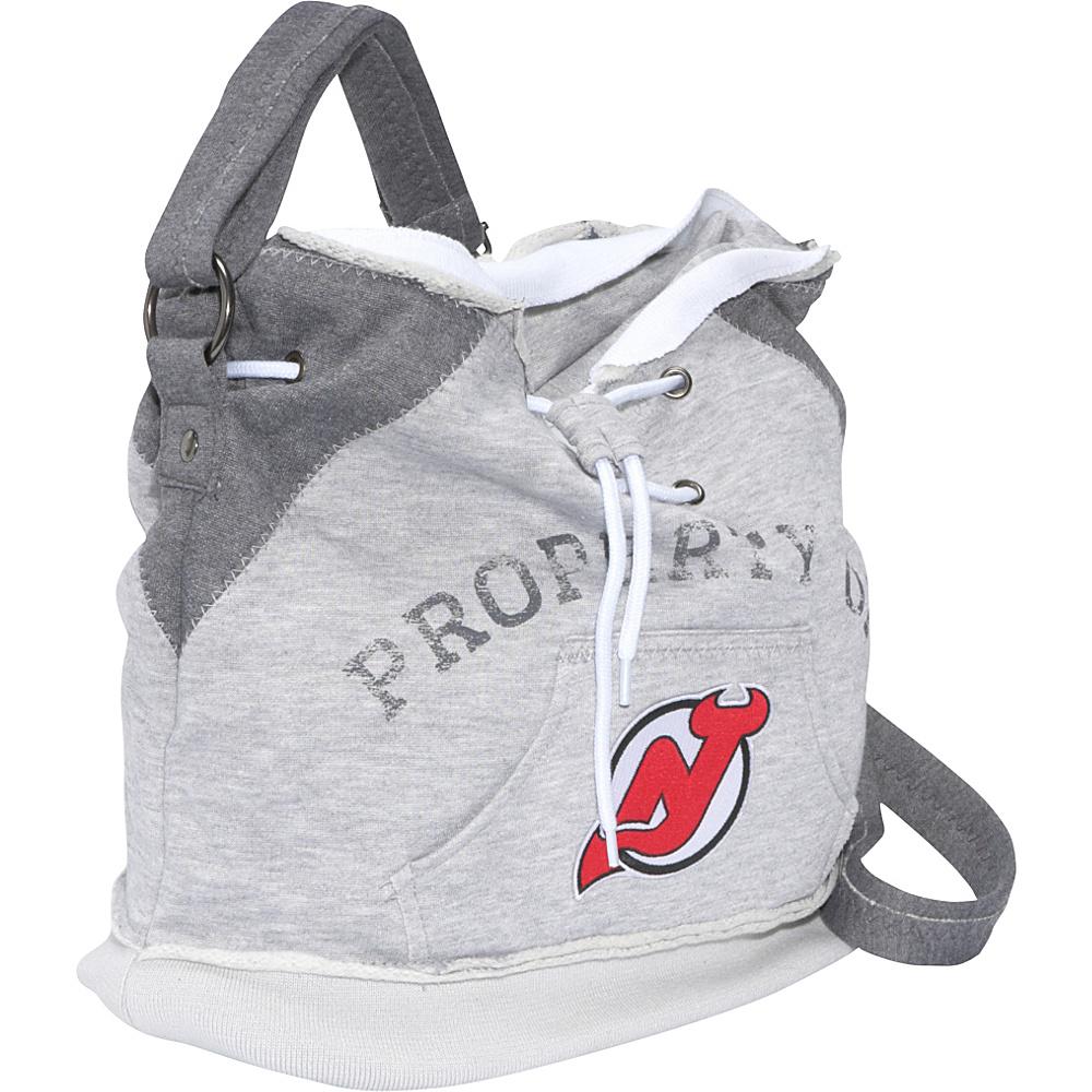 Littlearth NHL Hoodie Duffel Grey/New Jersey Devils New Jersey Devils - Littlearth Fabric Handbags
