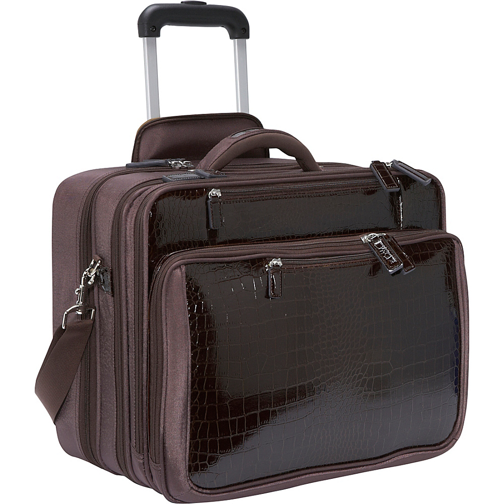 Women In Business Francine Collection - Croco 17.3 - Work Bags & Briefcases, Wheeled Business Cases