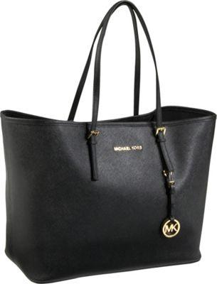 MICHAEL Michael Kors Jet Set Travel Medium Travel Tote Black - MICHAEL Michael Kors Designer Handbags