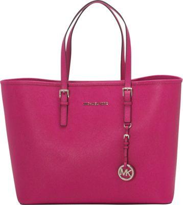 MICHAEL Michael Kors Jet Set Travel Medium Travel Tote Fuschia - MICHAEL Michael Kors Designer Handbags