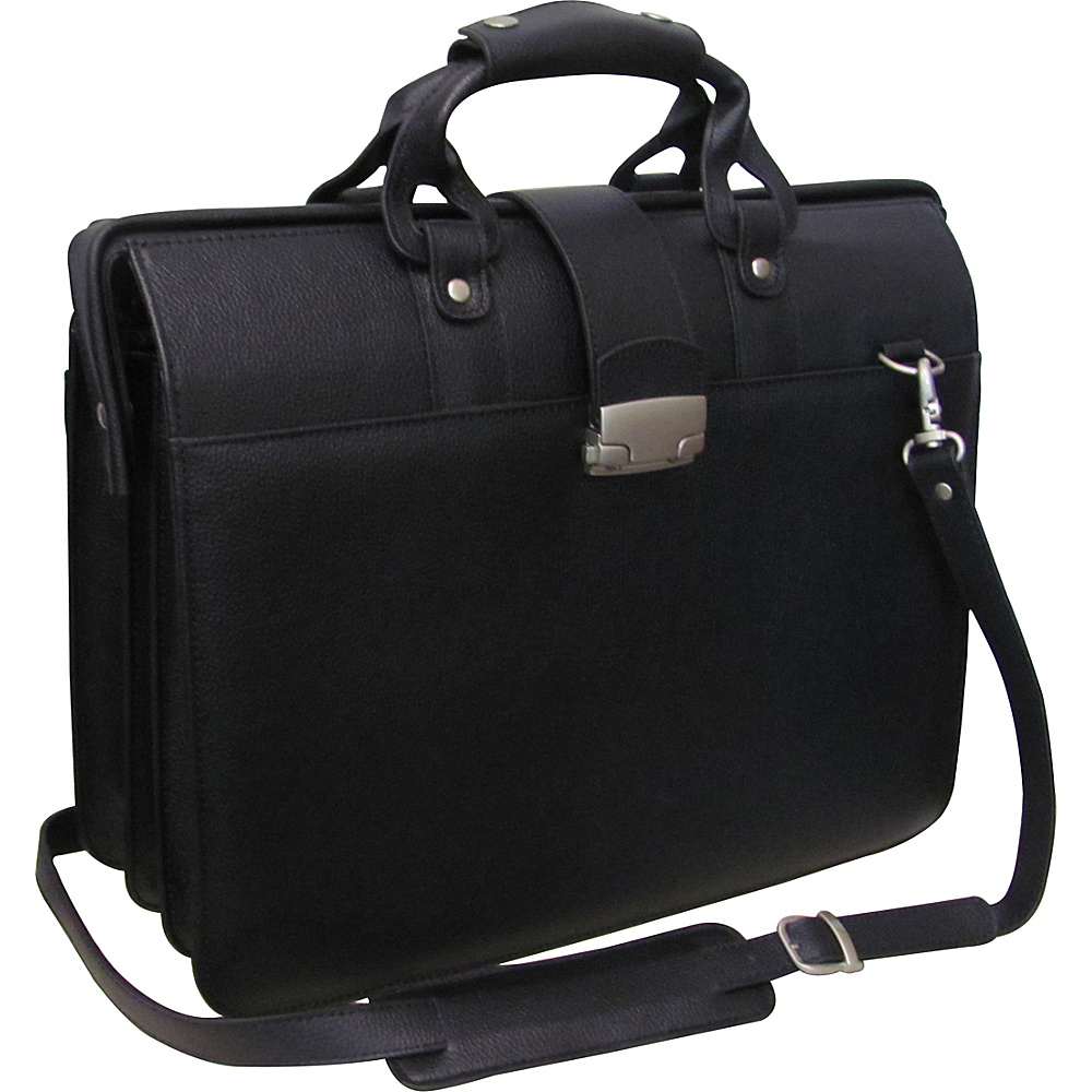 AmeriLeather Leather Doctors Carriage Bag - Black - Work Bags & Briefcases, Non-Wheeled Business Cases