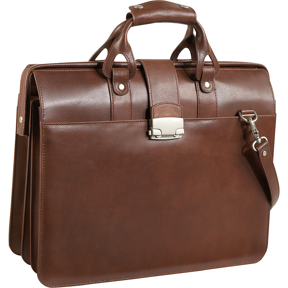 AmeriLeather Leather Doctor's Carriage Bag - Brown