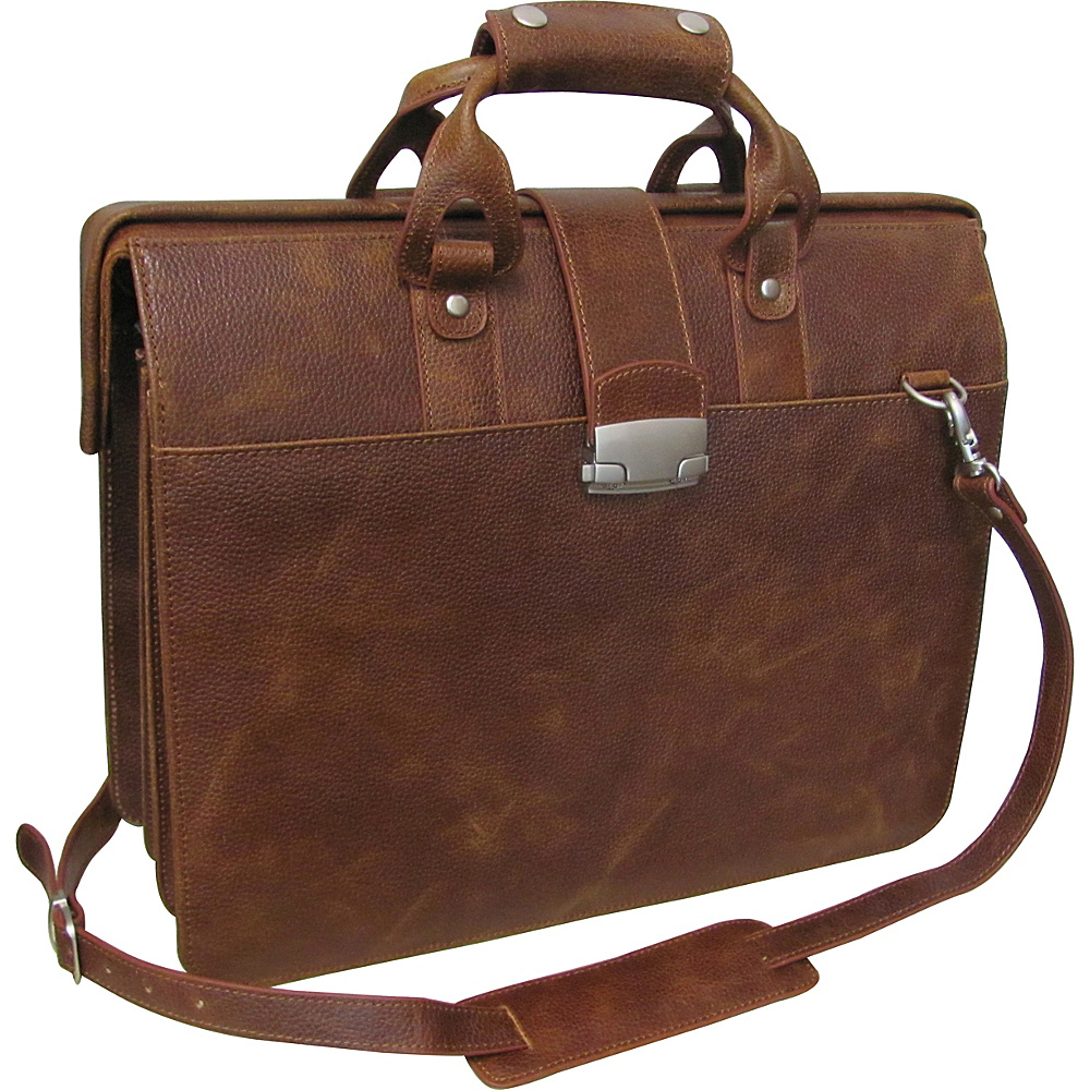 AmeriLeather Leather Doctors Carriage Bag Waxy Brown - AmeriLeather Non-Wheeled Business Cases - Work Bags & Briefcases, Non-Wheeled Business Cases