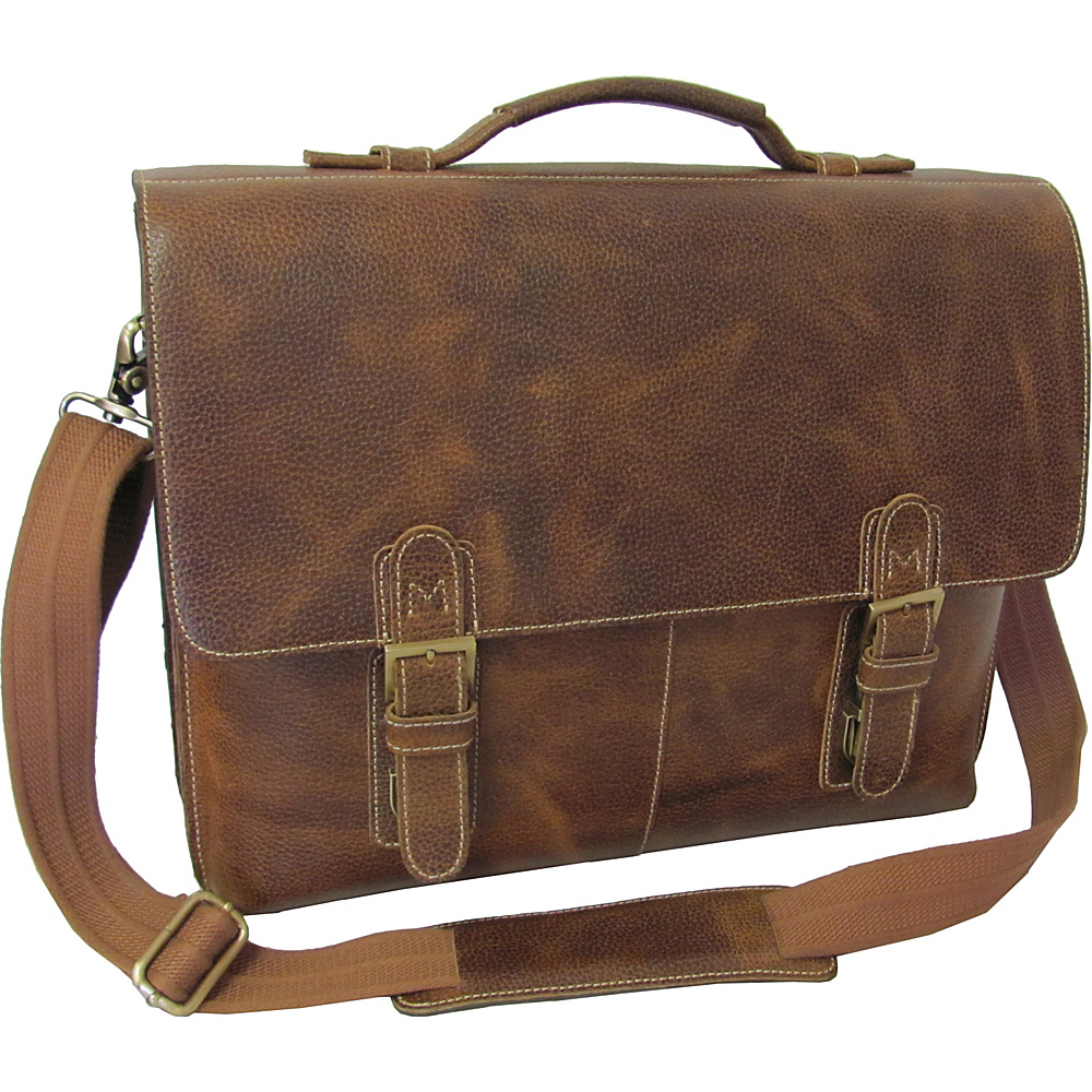 AmeriLeather Classical Leather Organizer Briefcase - Work Bags & Briefcases, Non-Wheeled Business Cases