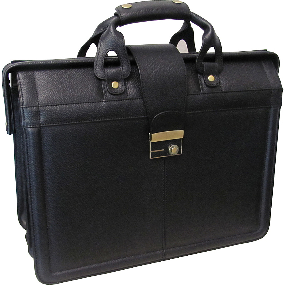 AmeriLeather APC Legal Leather Executive Brief - Black - Work Bags & Briefcases, Non-Wheeled Business Cases