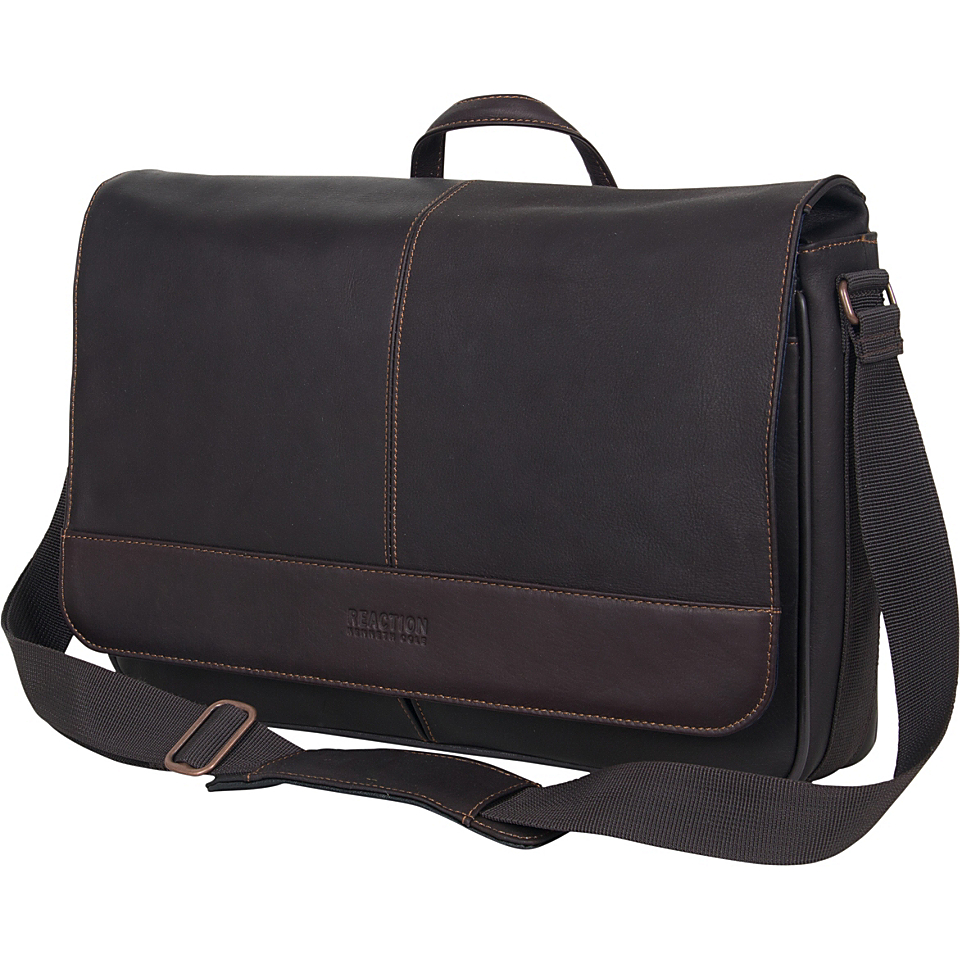 Kenneth Cole Reaction Come Bag Soon Colombian Leather Laptop
