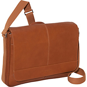 Come Bag Soon - Colombian Leather Laptop & iPad Messenger - eBags Exclusive Tan