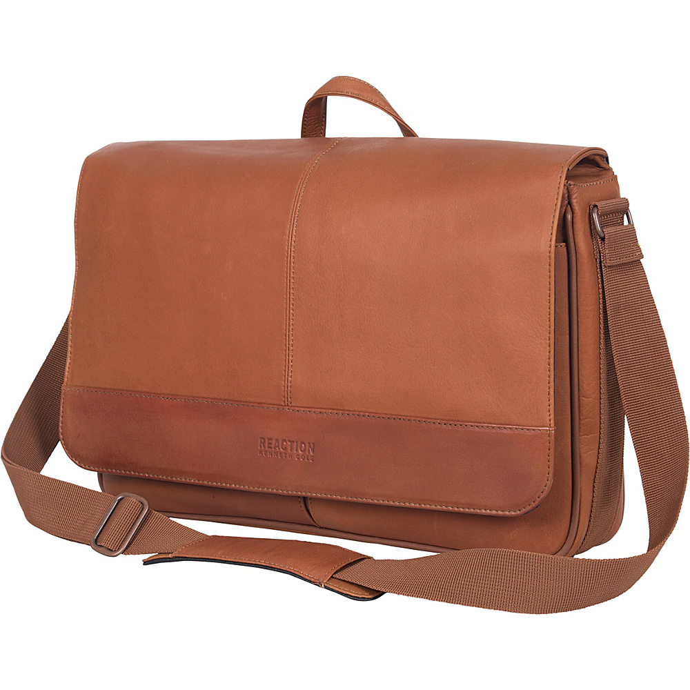 Kenneth Cole Reaction Come Bag Soon Colombian Leather Laptop iPad Messenger eBags Exclusive Cognac Kenneth Cole Reaction Messenger Bags