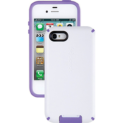 Speck iPhone 4S Candyshell View Case - White/Aubergine