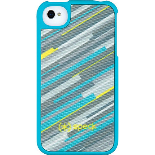 Speck iPhone 4S Fitted Case - Hyperstripe Teal