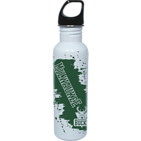 Milwaukee Bucks Water Bottle White