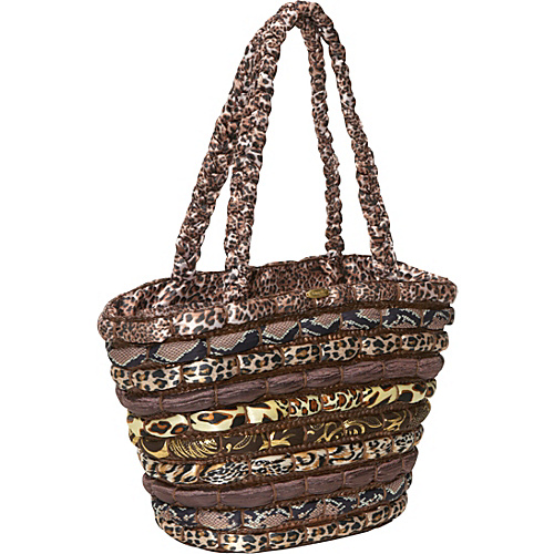 Cappelli Straw Tote With Animal Prints - Tote