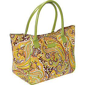 Style 98 Lunch Bag Green Paisley