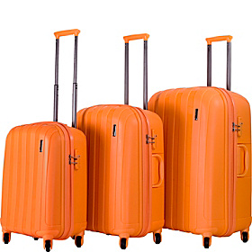 Paradise 3 Piece Extra Lightweight Luggage Set Orange