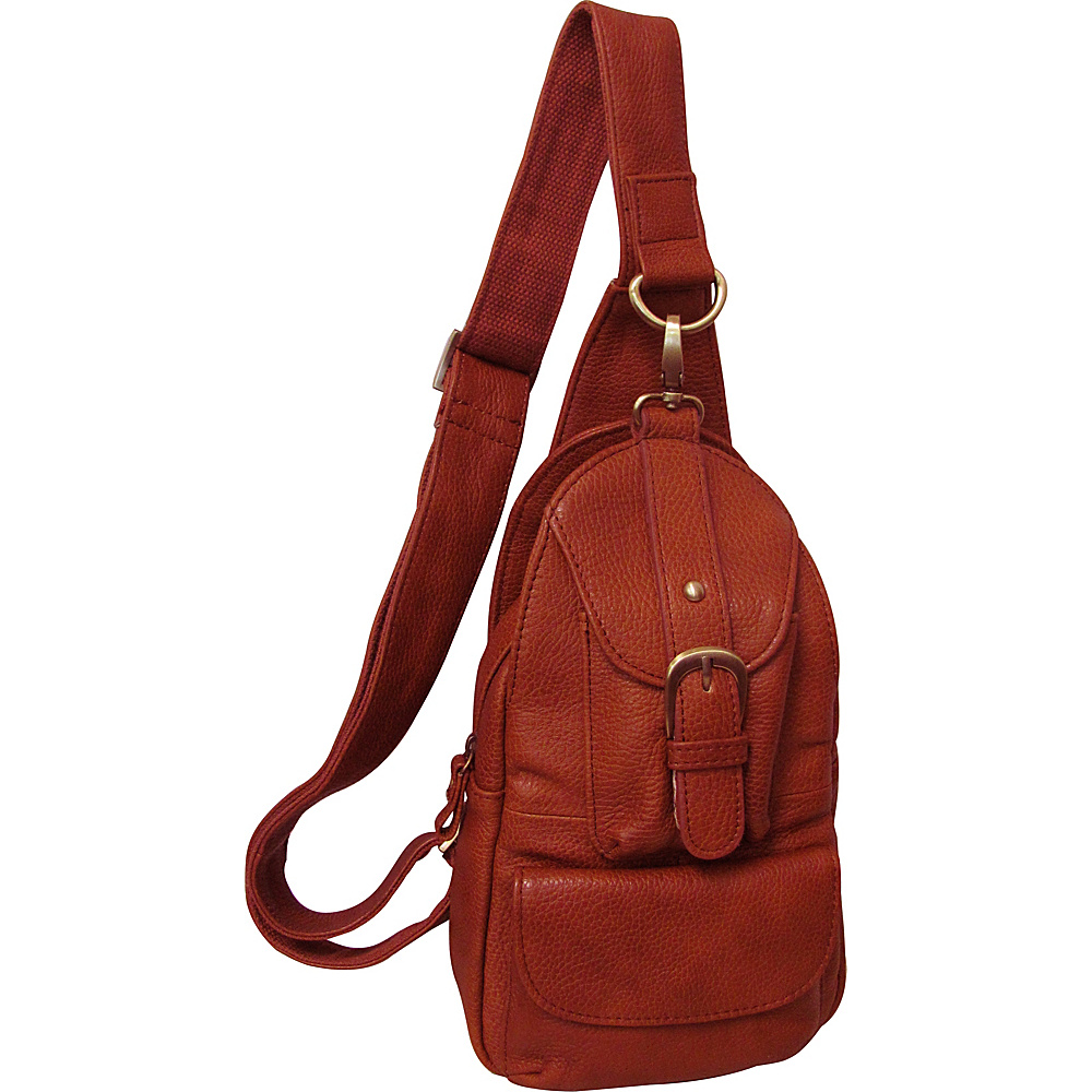AmeriLeather Grylls Petite Sling Purse - Brown - Handbags, Leather Handbags