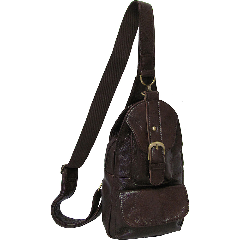 AmeriLeather Grylls Petite Sling Purse Waxy Brown - AmeriLeather Leather Handbags - Handbags, Leather Handbags
