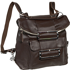 Rococo Leather Handbag / Backpack  Espresso