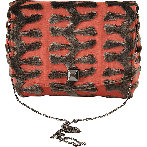 Baxter Designs Square Totem Clutch Coral - Baxter Designs Evening Bags