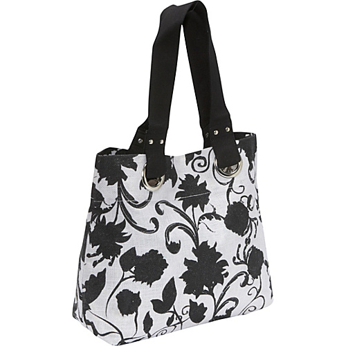 Earth Axxessories Jute Tote Leaf Floral - Earth Axxessories Fabric Handbags