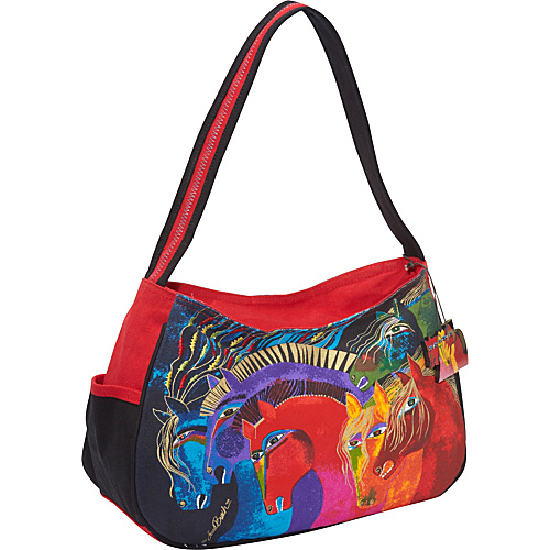 Laurel Burch Wild Horses of Fire Hobo Bag Wild Horses of Fire - Laurel Burch Fabric Handbags