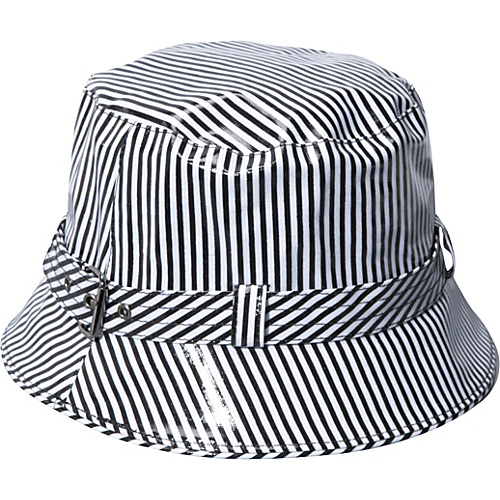 San Diego Hat Rain Bucket Hat - Black Stripes