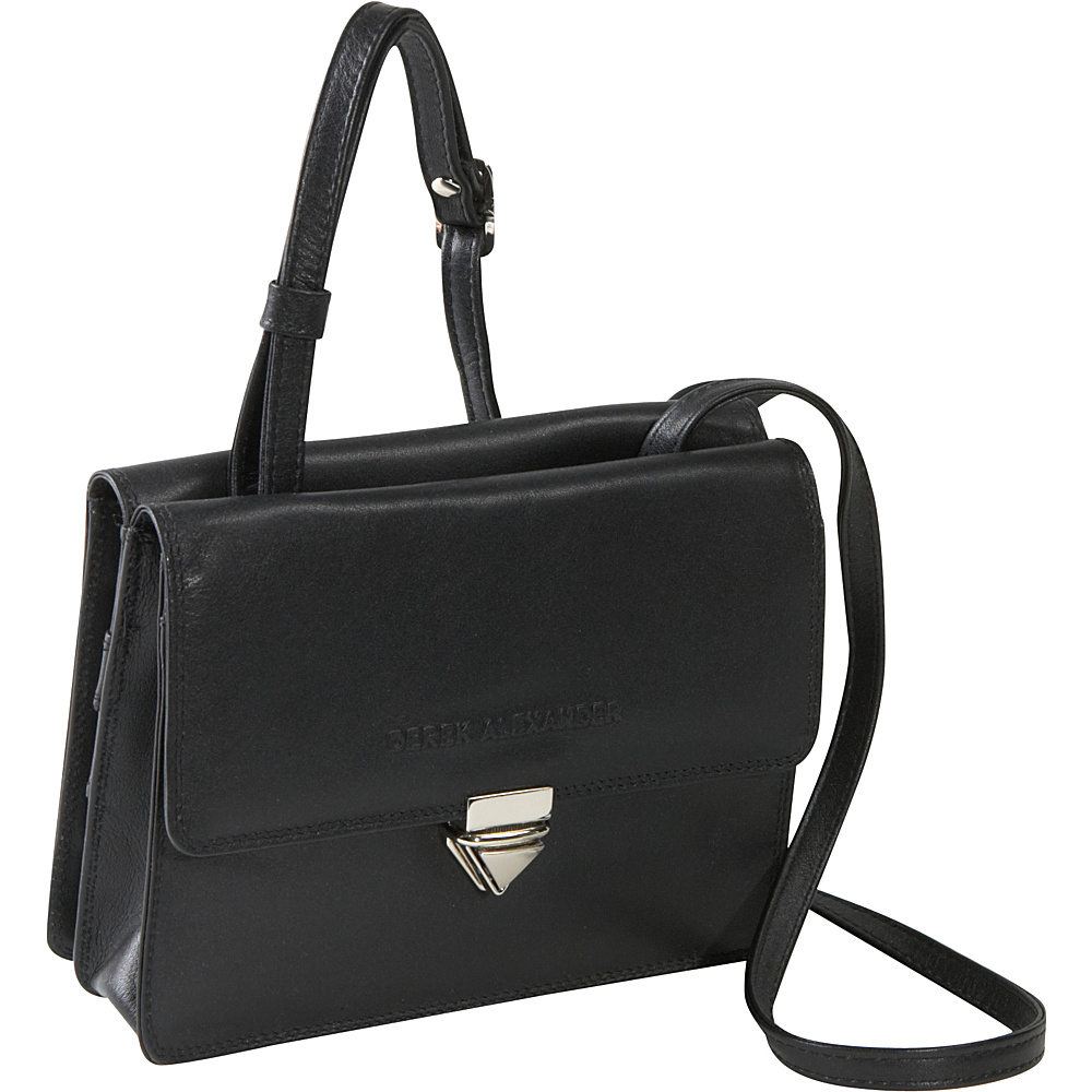 Derek Alexander Slim Flap Organizer - Black - Handbags, Leather Handbags
