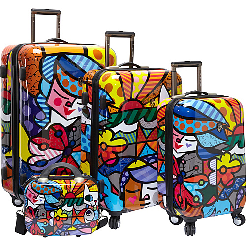 Britto Collection by Heys USA Garden 4 Piece Luggage Set Garden - Britto Collection by Heys USA Luggage Sets