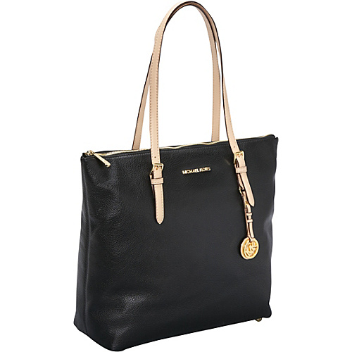 MICHAEL Michael Kors Jet Set Item Large N/S Top Zip Tote Black - MICHAEL Michael Kors Designer Handbags