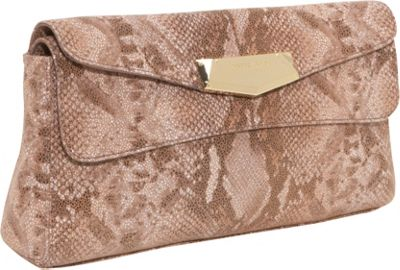 Vince Camuto Micha Snake Flap Clutch W/ Strap