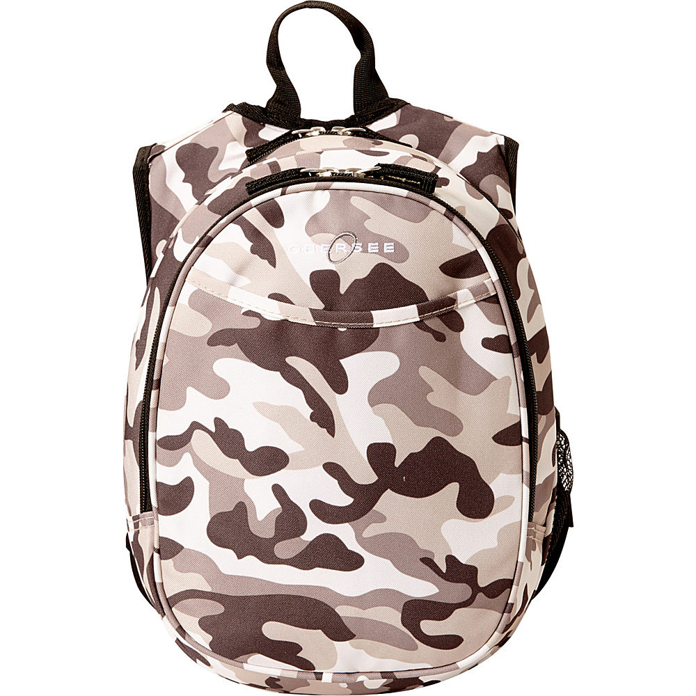 Obersee Kids Pre School Camo Backpack with Integrated Lunch Cooler Camo Obersee Everyday Backpacks