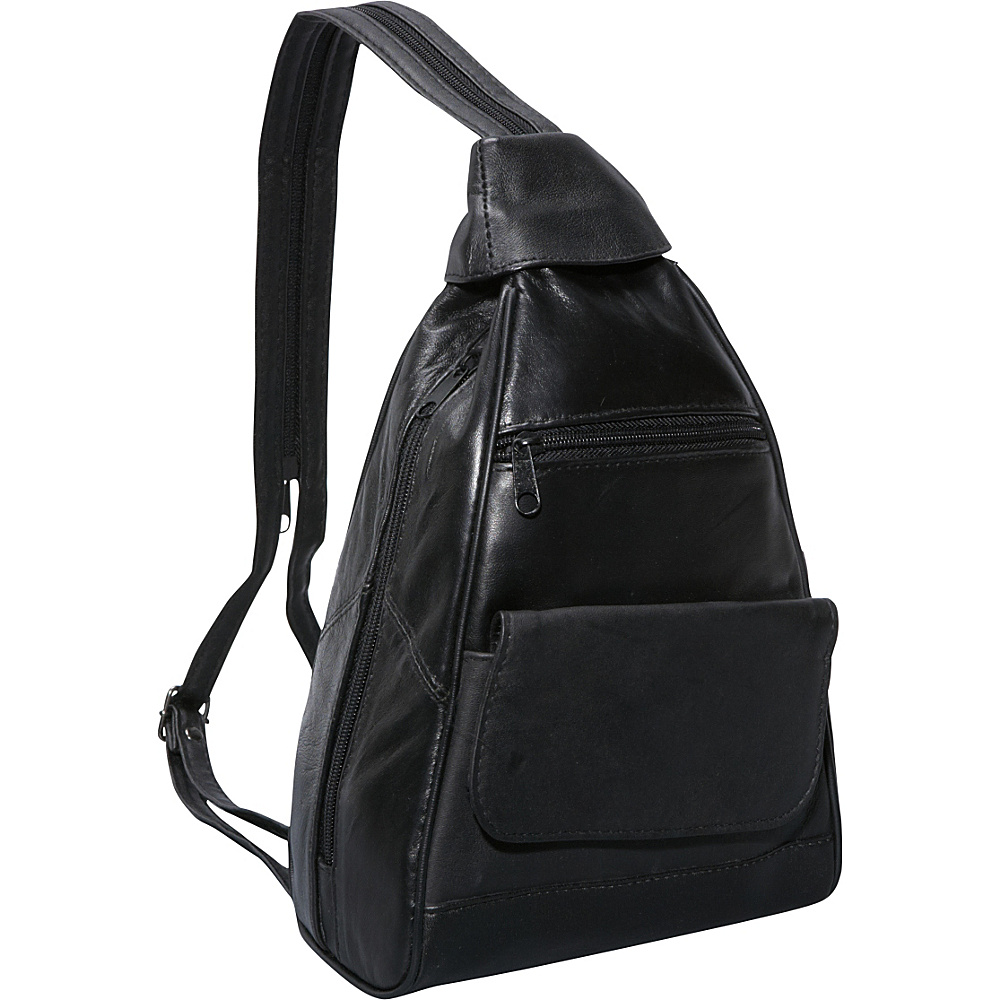 Bellino Leather Mini Backpack - Black - Handbags, Manmade Handbags